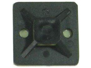 Držiak sťahovacie pásky plochý 25x25mm čierny