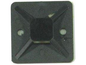 Držiak sťahovacie pásky plochý 30x30mm čierny