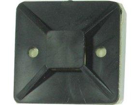 Držiak sťahovacie pásky plochý 40x40mm čierny
