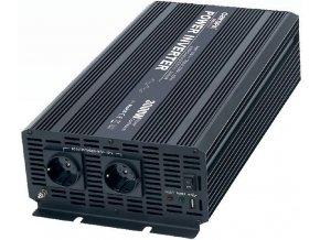 Menič napätia 12V / 230V + USB 3000W, CARSPA CAR3K, modifikovaná sínusoida