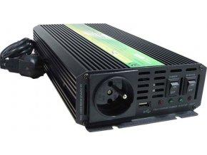 Menič napätia + UPS 12V / 230V / 600W, CARSPA UPS600, modifikovaná sínusoida