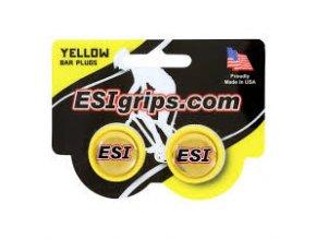 zátky řidítek ESI žluté