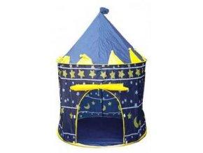 Detský stan pre deti, zámok - modrý