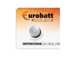 Batérie EUROBATT LR66 (AG4,377X, SR626SW, LR626) alkalická