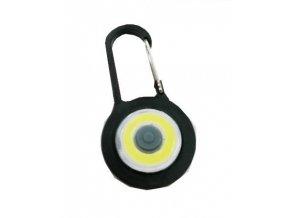 Kľúčenka na batoh LED COB, čierna
