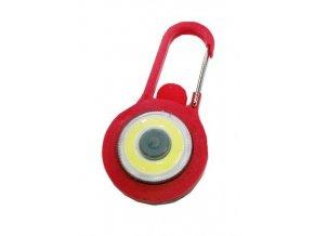 Kľúčenka na batoh LED COB, červená