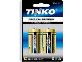 Batéria Tinka 1,5V C (LR14) alkalická, 2ks v blistri