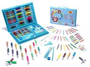 Kreatívna sada na maľovanie v plastovom kufríku, modrá