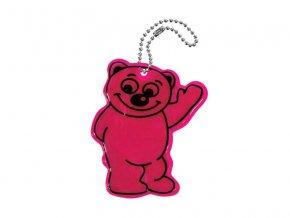 Reflexný prívesok BEAR fialový COMPASS 01725