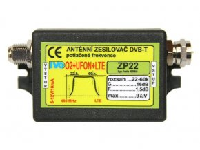 Ivo ZP22V zesilovač 16dB (5-12V) s potlačením O2+UFON+LTE /venkovní/