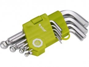 Kľúče imbus 1,5-10mm s guľovou hlavou EXTOL, sada 9ks