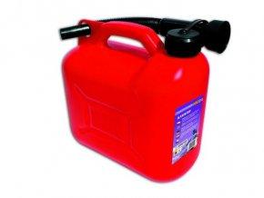 Plastový kanister na benzín, PHM, 20 L, červený
