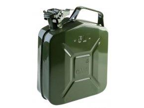 Plechový kanister na benzín, PHM, 5 L, GMP, zelený