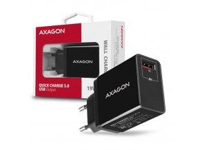 Napájač AXAGON ACU-QC19 USB QC3.0 quick charger, čierna