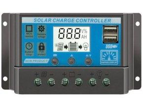 Solárny regulátor PWM KLX1230 12V / 30A + USB pre rôzne typy batérií