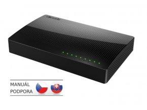 Switch Tenda SG108 - 8x Gigabit Desktop Ethernet Switch, rýchlosti 10