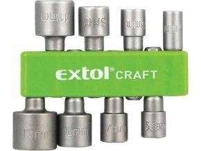 Kľúče nástrčkové do vŕtačky, sada 8ks, 10213, EXTOL CRAFT