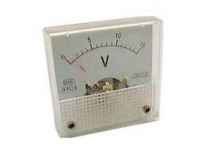 Analógový panelový voltmeter 91C4 15V DC