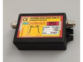 Anténny zosilňovač 26dB DVB-T2 nízkošumový s potlačením 02 + ufóna + 5G LTE