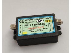 Anténny zosilňovač 26dB DVB-T2 s potlačením 5G LTE
