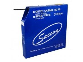bowden brzdový 5mm 2P 50m Saccon černý box