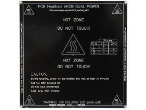 Vykurovacia podložka MK2B 214x214x3,5mm 12-24V 120W / 3D tlač /
