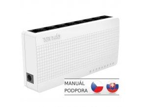 Switch Tenda S108 8 x 10/100 Mb / s Mini Eco Switch, Desktop, Auto MDI /