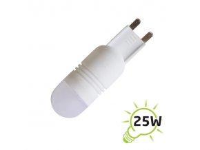 LED žárovka G9 2,5W bílá teplá