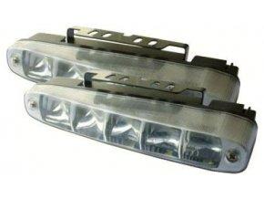 Svetlá pre denné svietenie DRL16-1W 5xLED, použité, 1 svetlo chybné