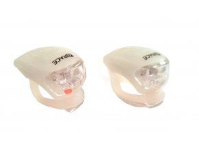 blikačka přední+zadní 4RACE LS03 silicon bílé