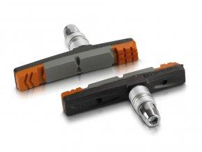 špalíky XLC BS-V09 oranžovo/šedé 70mm 2páry