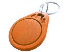RFID prístupový čip 13,56MHz, prívesok, oranžový
