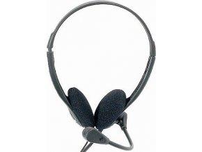 Slúchadlá s mikrofónom HP-116cm, 2x32ohm, 2x jack3,