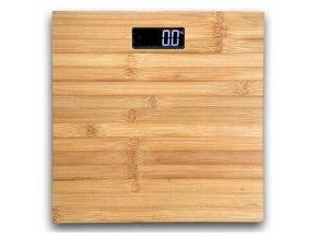 Osobná váha do 180kg, sklo, bambus