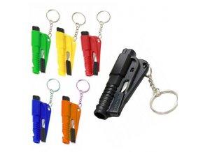 Nouzové bezpečnostní kladívko na sklo, nůž, píšťalka