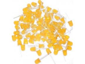 LED 10mm žltá difúzna, balenie 100ks