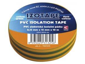 Páska izolačná PVC 15/10m zelenožltá EMOS
