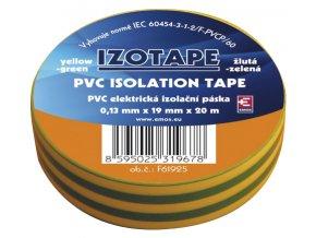 Páska izolačná PVC 19/20m zelenožltá EMOS