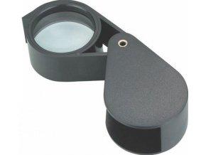 Lupa 50mm sklenená vreckové, zväčšenie 10x