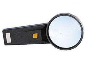 Lupa s osvetlením, priemer 75mm, napájanie 2xAA