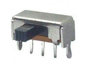 Prepínač posuvný SK-12F03G5, ON-ON 1pólový, 50V / 0,5A uhlový