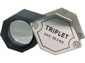 Lupa klenotnická 20mm skleněná, zvětšení 30x