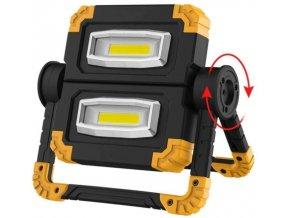 Pracovný prenosný dobíjacie LED reflektor 10W - dvojitý