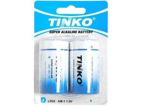 Batérie Tinka 1,5V D (LR20) alkalická modrá, 2ks v blistri