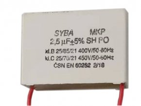 2,5uF/400V, motorový kondenzátor MKP