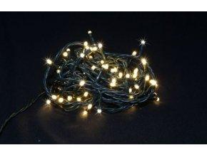 Vianočné osvetlenie 100LED - biele teplé, každá desiata bliká, vonkajšie
