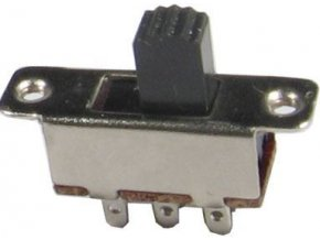 Prepínač posuvný KBB70-2P2W, ON-ON 2pol.250V / 3A