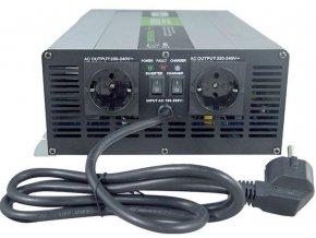 Menič napätia + UPS + nabíjač 12V / 230V / 1500W, Soluowill NPS1500, čistá sin.