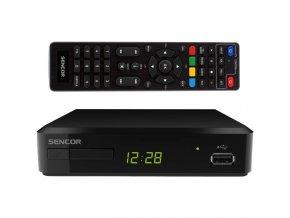 Set-top box DVB-T / T2 prijímač SDB 520T + učiacej sa ďalej. ovládač SENCOR
