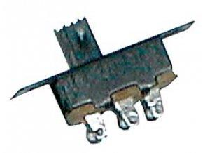 Prepínač šupátkový-malý 2pol./3pin